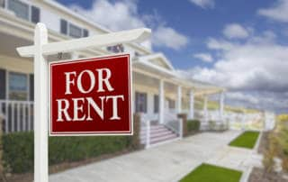 For Rent sign outside home
