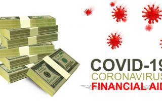 a pile a dollars next to COVID Finance